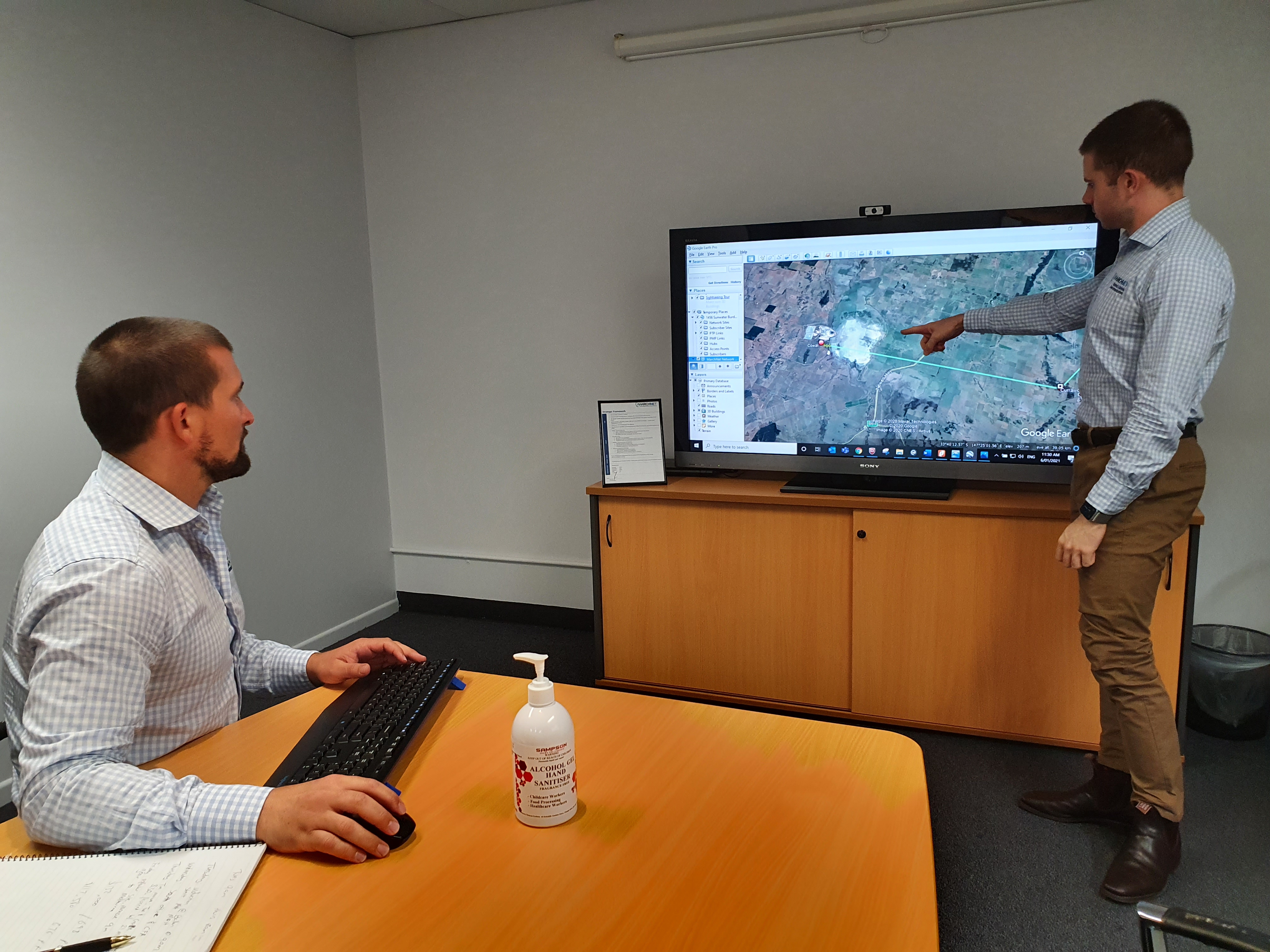 Desktop Design Review with Project Manager Tim Wilks and Service Delivery Manager Shane Bennett